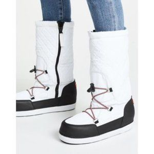 🆕 HUNTER White Original Snow Quilted Boots